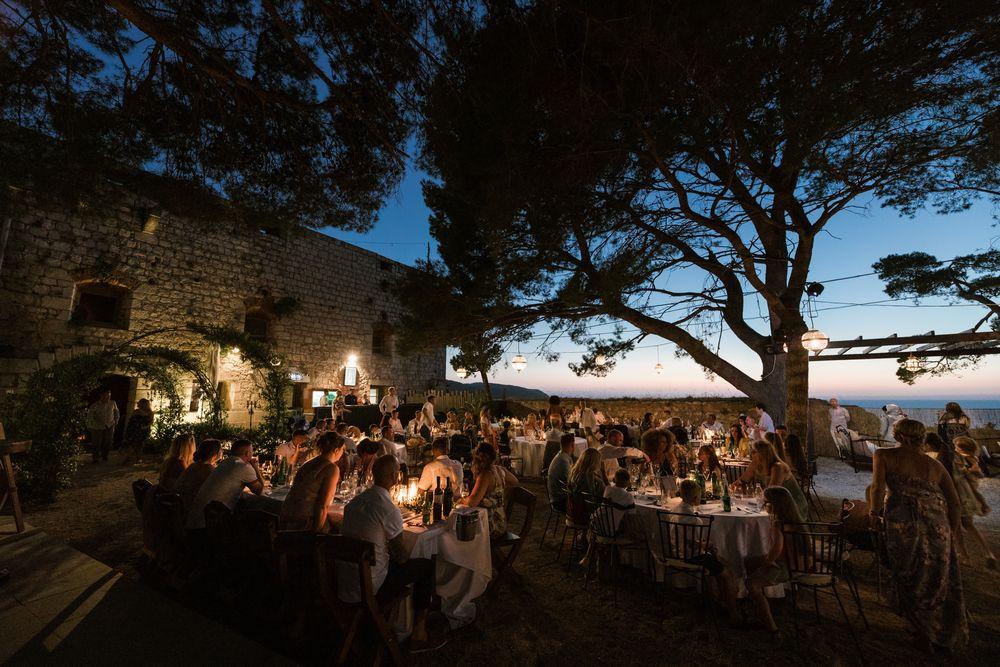 Fort George Reception, Vis Island, Wedding in Croatia