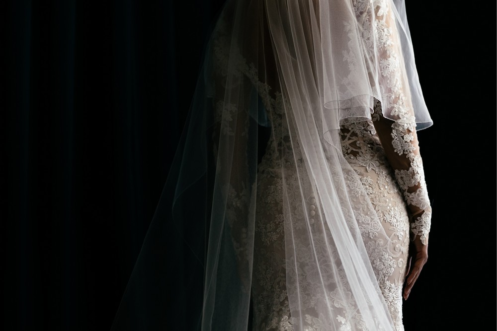 Wedding dress detail, Croatia weddings