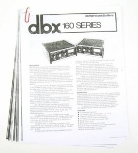 Recap / repair / service your dbx 160, 160X, 160XT, 160SL