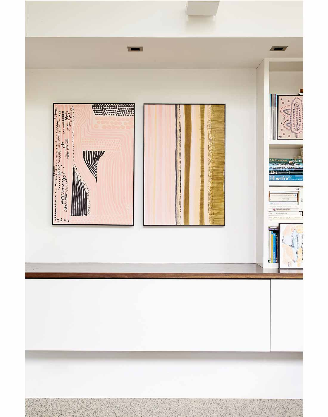 Pink Series Diptych framed in Black