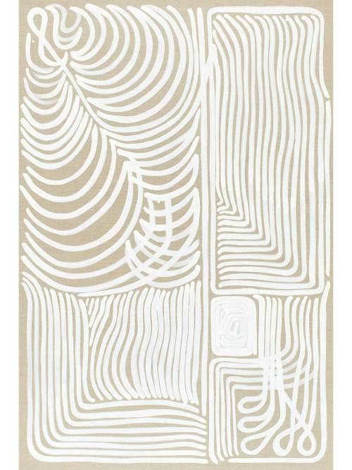 White Line on Linen