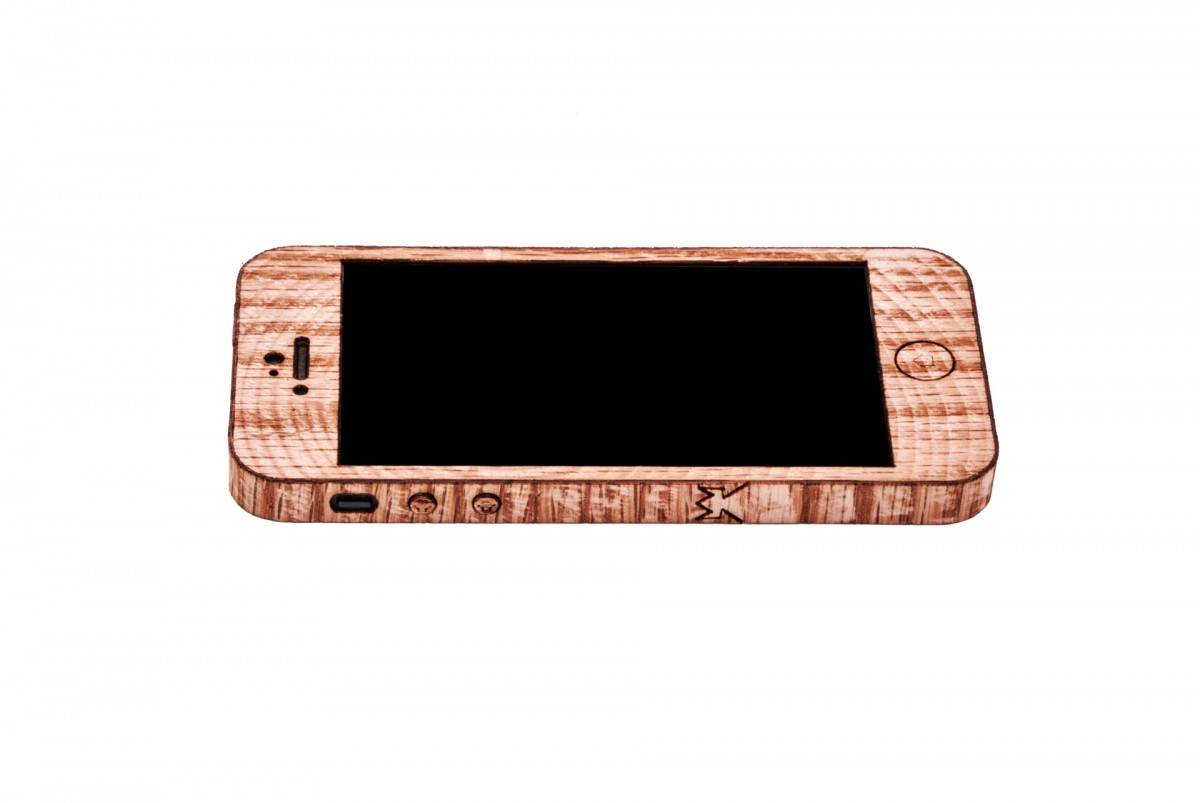 Laser Etched Wood Grain IPhone Case