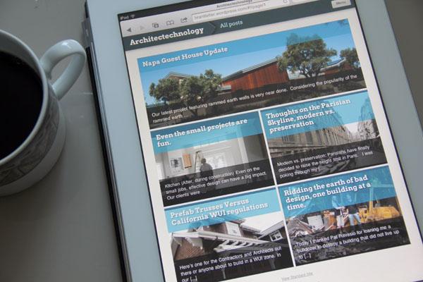 WordPress iPad optimization, very cool.