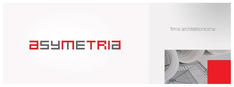 projekt logo firmy Asymetria