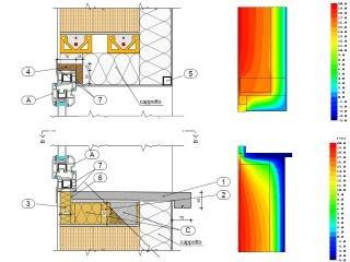 Analisi elementi finiti Ponti Termici  Studio Tecnico Garelli