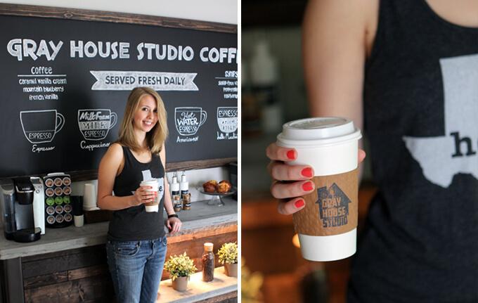 Home Coffee Bar DIY Coffee Station Chalkboard Paint Wall Keurig Indoor Plants