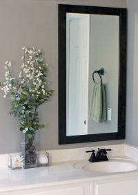 How to Frame Bathroom Mirrors | Gray House Studio