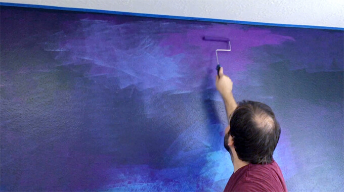 How to Paint a Galaxy Wall Mural in a Spaceship Themed Playroom  Gray House Studio