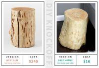 DIY Log Side Table | Gray House Studio