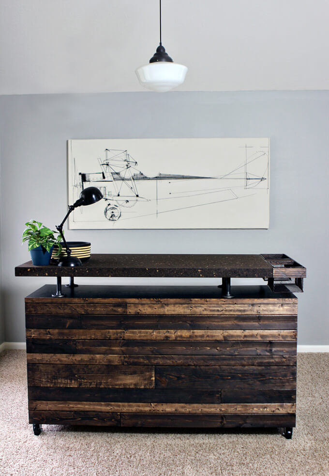 DIY Work Table  MALM Dresser Hack  Gray House Studio