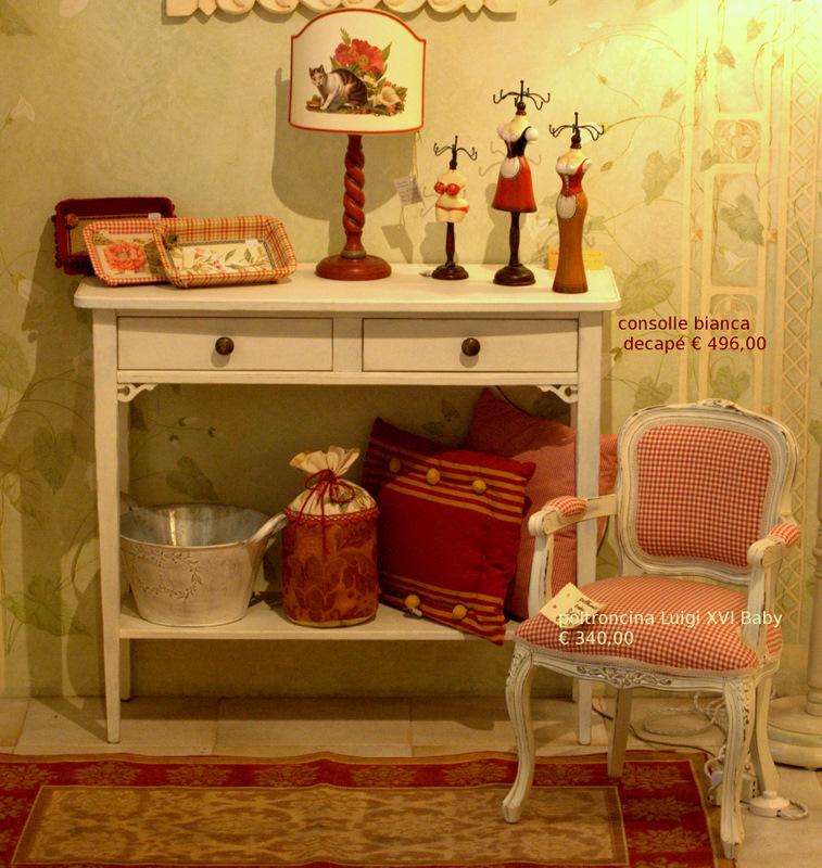 arredamenti country con tessuti stampati mobili decorati
