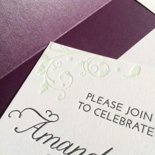 Lovely letterpress detailing