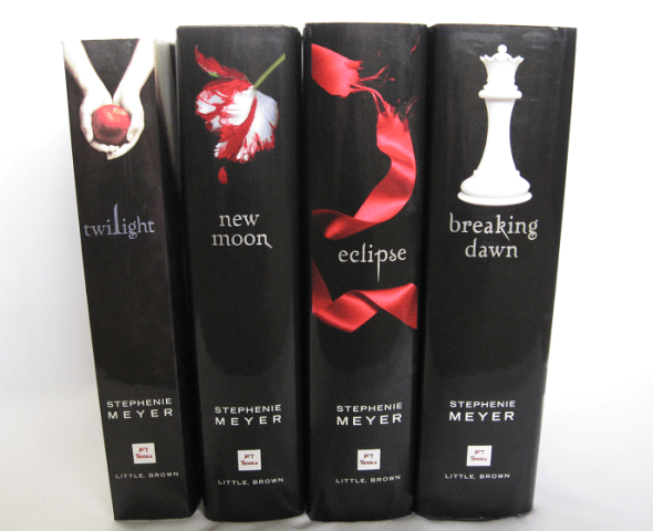 Dynamic, striking spines across the series.