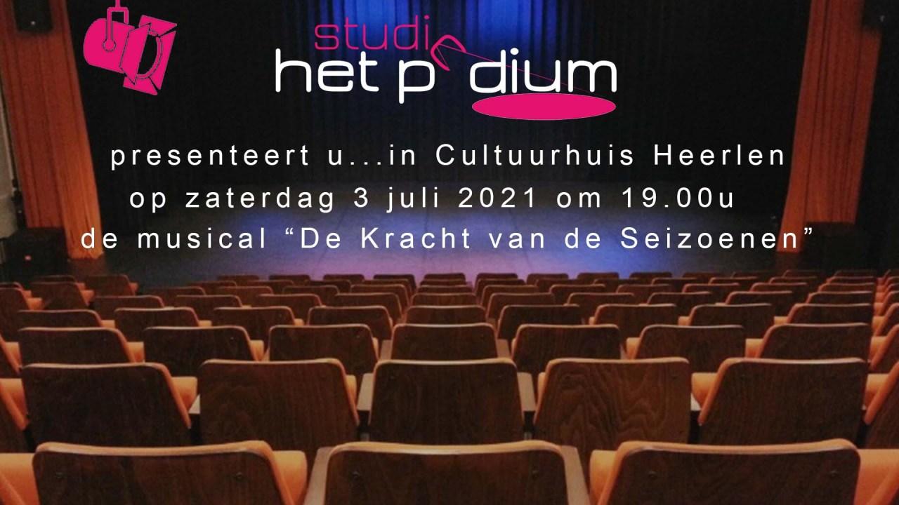 Musical show Zaterdag 3 juli Cultuurhuis Heerlen