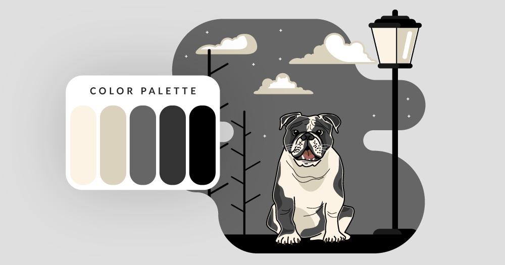 color palette english bulldog