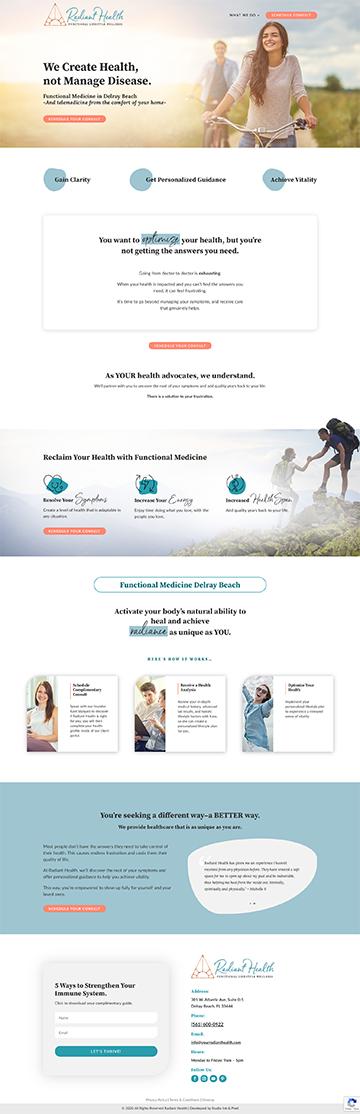 radiant health website