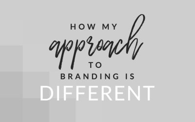 How My Approach to Branding is Different