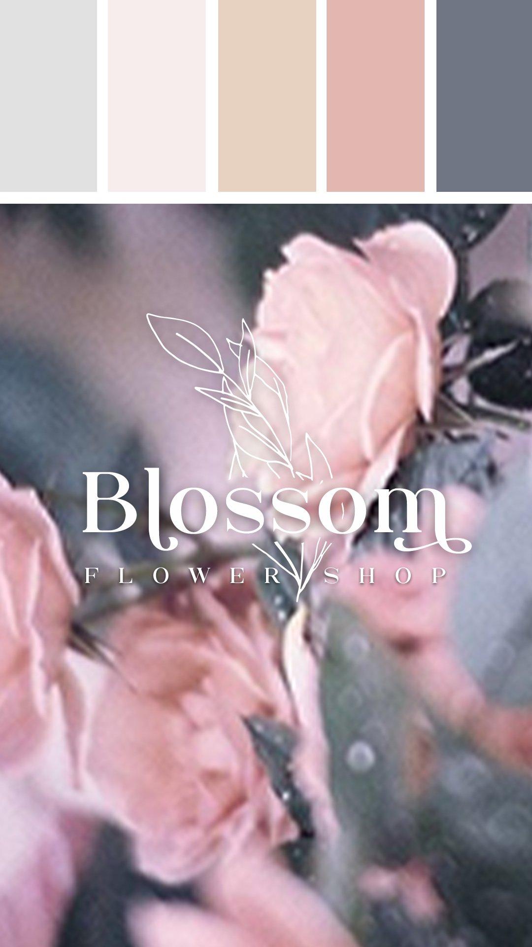 blossom flower shop logo