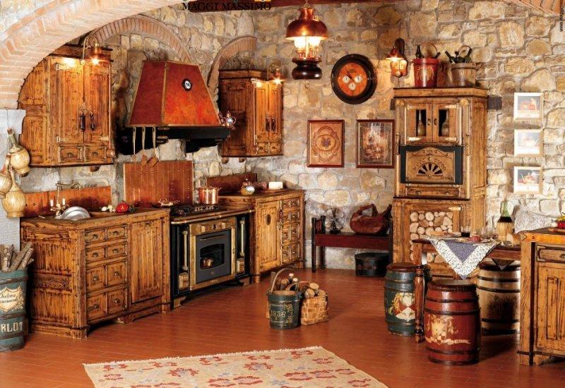 cuisine campagnarde en bois