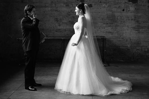 Aria Wedding first look