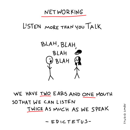 Netwerken: Listen more than you speak