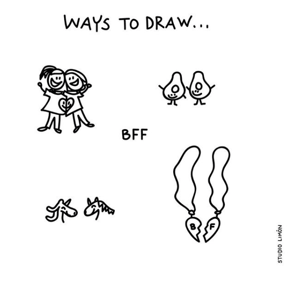 WAYS TO DRAW – BFF