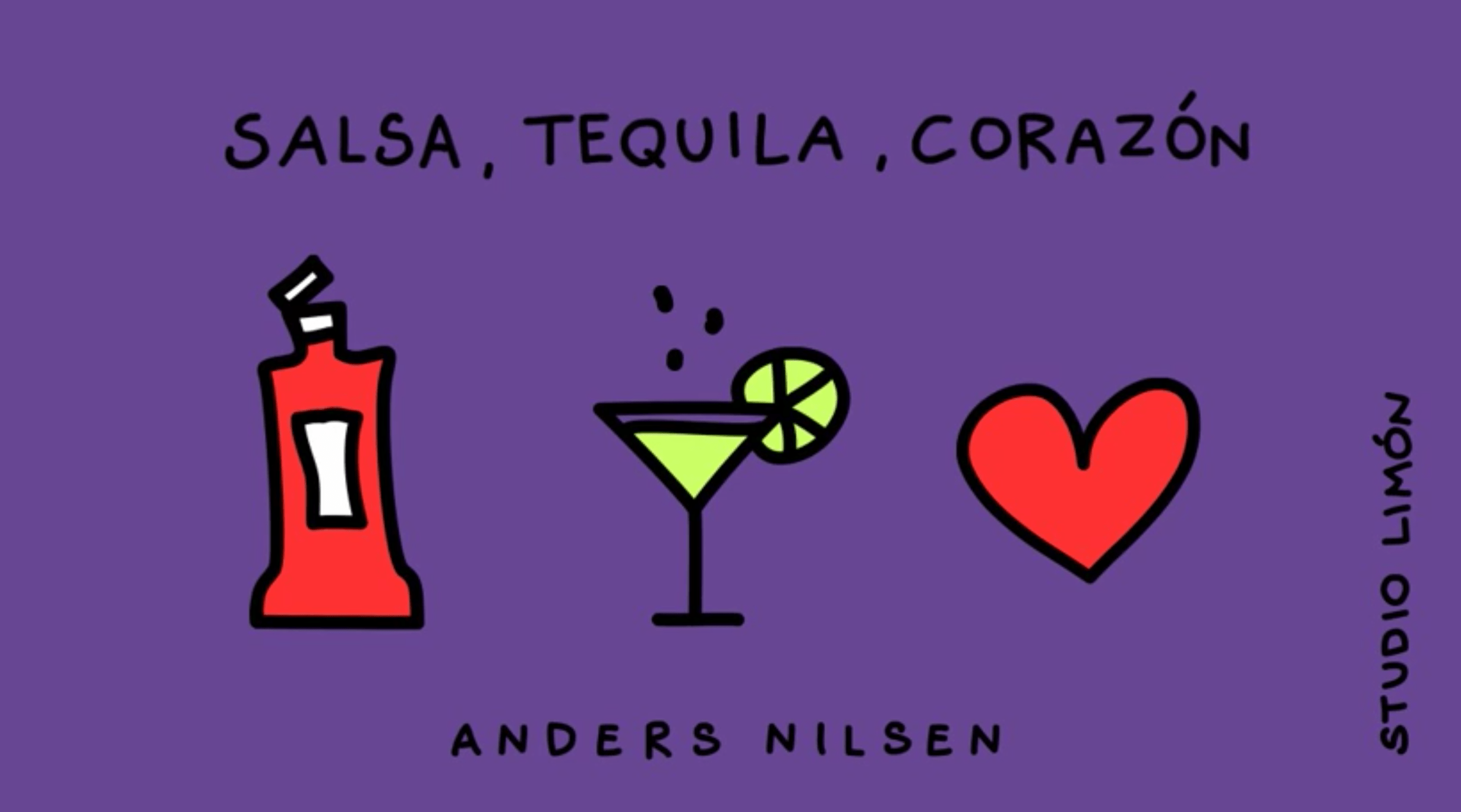 illustratie songtekst lyrics Salsa Tequila Corazon Anders Nilsen