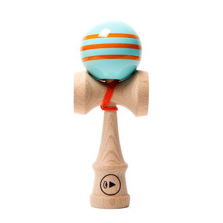 KENDAMA PRO II K TRIPLE STRIPES - ORANGE CLOCK