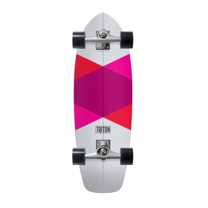 "Carver Skateboards Triton Red Diamond Komplett Surfskate 29"""