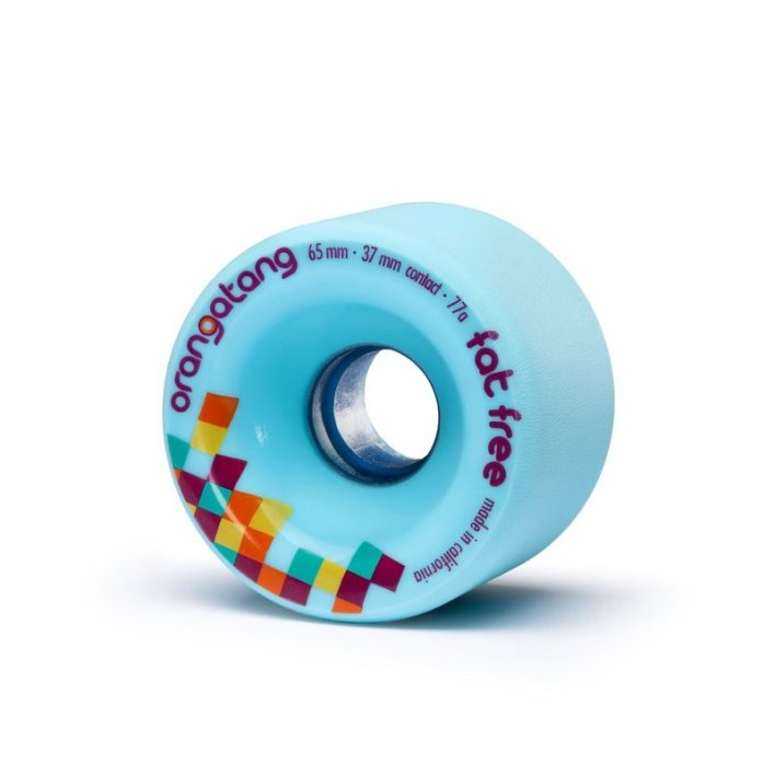 Orangatang Fat Free Wheels 65mm 77a Blue