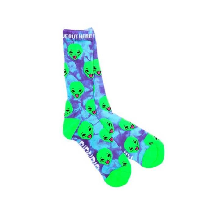 RIPNDIP We Out Here Socks Purple Tie Dye