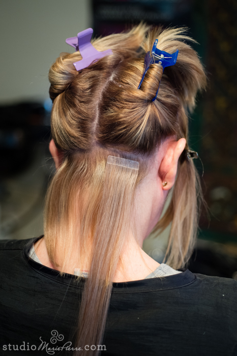 Taped Hair Extensions Before After Photos Studio Marie Pierre Key