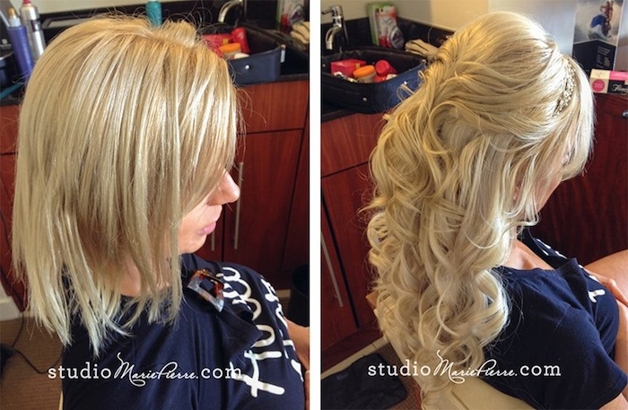 Clip In Hair Extensions For The Key West Bride