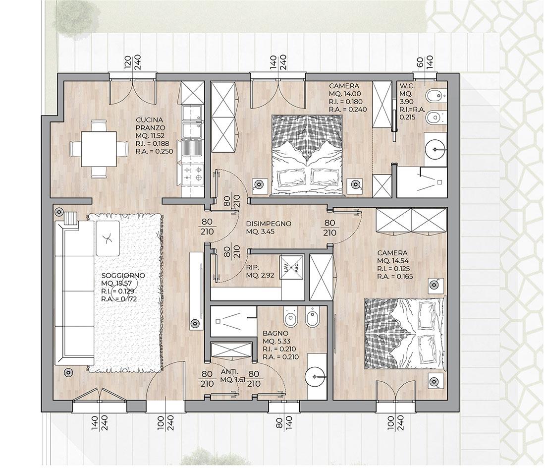 Progettazione Architettonica Soluzione Appartamento