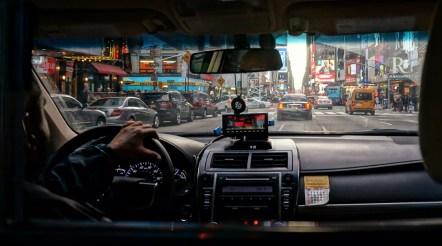 Cab Ride through Times Square