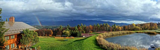 View from Trapp: Autumn Rainbow
