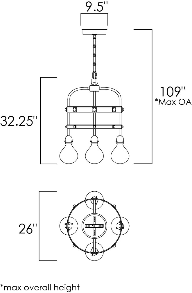 Napa 4-Light Pendant