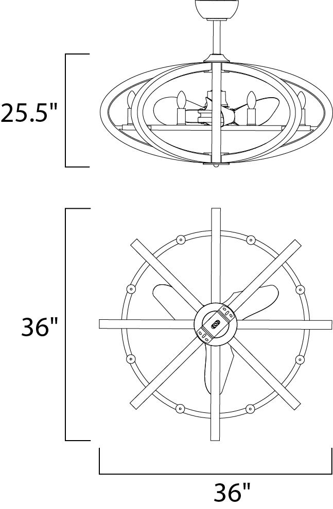 Bodega LED 8-Light Fanelier