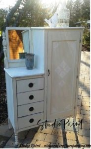 painted antique wardrobe