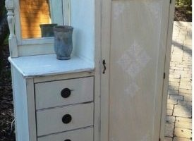 "Painted Antique Wardrobe Dresser ""Fabulous Freddie"""