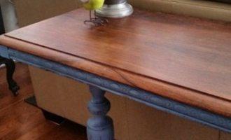"Refinishing Table Top ""Chloe's Face Lift"""
