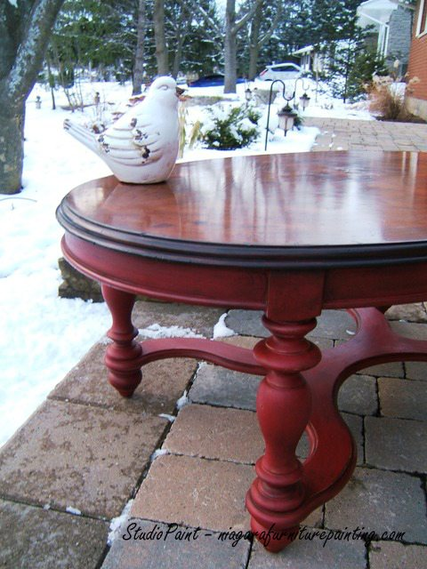 Brilliant Red Painted Coffee Table Jerome Studio Paint Design Pabps2019 Chair Design Images Pabps2019Com