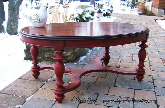 Stupendous Red Painted Coffee Table Jerome Studio Paint Design Pabps2019 Chair Design Images Pabps2019Com
