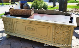 "Painted Cedar Chest by Lane – ""19th Street"""
