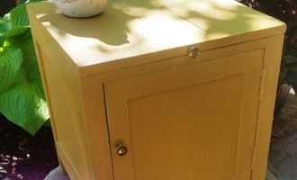"Painted Yellow Commode ""Johnny"""