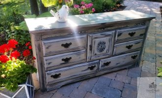 "Shabby Chic Dresser and Headboard for ""Vicky"""