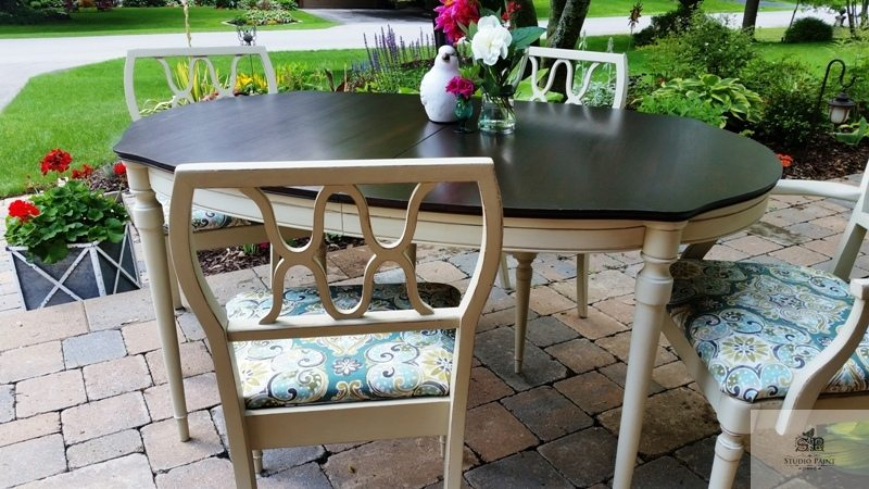 Mid century Painted Dining Set