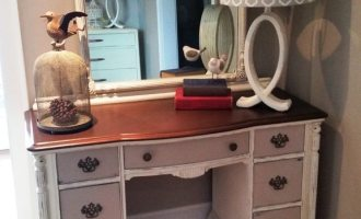 "Painted Vanity and Mirror found on ""Lindbergh"""