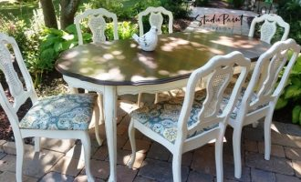 "Fancy French Provincial Dining Set ""Kelly"""
