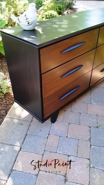two-toned mid-century modern dresser